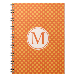 Halloween Polka Dots Monogram | Guestbook Notebook