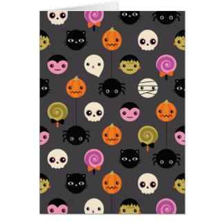 Halloween Polka Dots Pattern Card