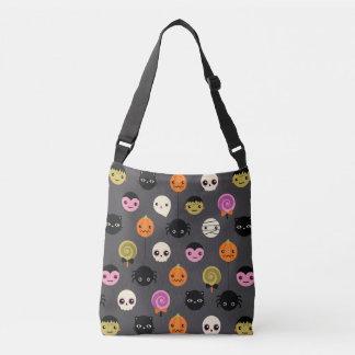 Halloween Polka Dots Pattern Crossbody Bag