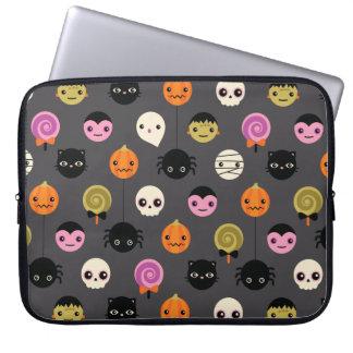 Halloween Polka Dots Pattern Laptop Sleeve