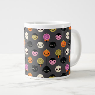 Halloween Polka Dots Pattern Large Coffee Mug