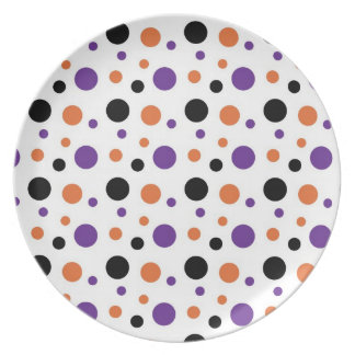 Halloween Polka Dots Party Plate