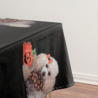 Halloween poodle dog tablecloth