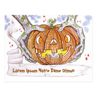 Halloween Postal Greetings Card - Happy Postcard