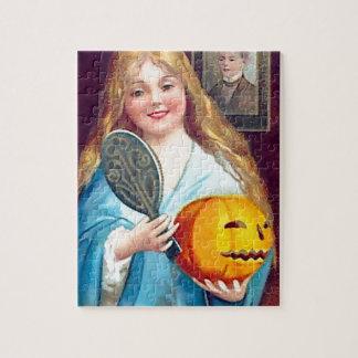 Halloween Postcard - Ellen Clapsaddle Jigsaw Puzzle