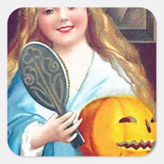 Halloween Postcard - Ellen Clapsaddle Square Sticker