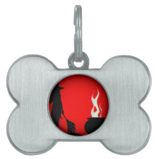 Halloween Poster Background Pet ID Tag