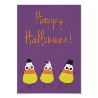 Halloween Poster with Candy Corn