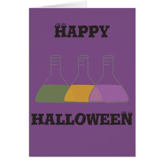 Halloween Potion Bottles Card