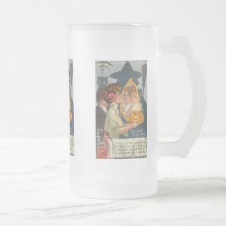 Halloween Precautions Vintage Card Mugs