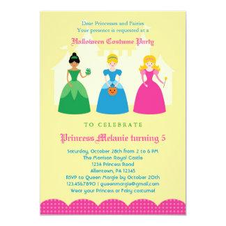"Halloween Princess Costume Party Invitation 5"" X 7"" Invitation Card"