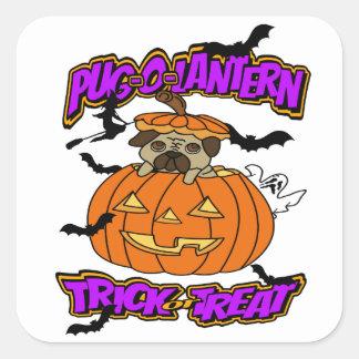 Halloween Pug-o-Lantern Pug Stickers