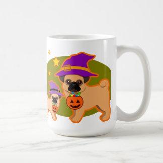 Halloween pugs coffee mug