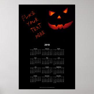 Halloween Pumpkin 001 2018 Poster