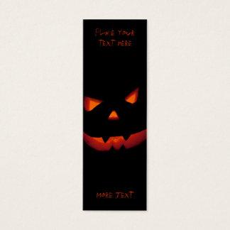 Halloween Pumpkin 001 - Bookmark Mini Business Card