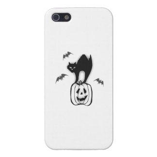 Halloween Pumpkin and Black Cat iPhone 5/5S Cases