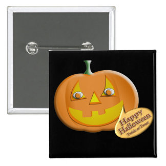 Halloween Pumpkin Pinback Buttons