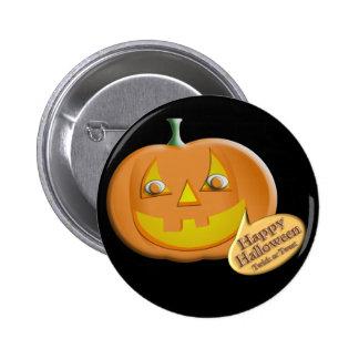Halloween Pumpkin Button