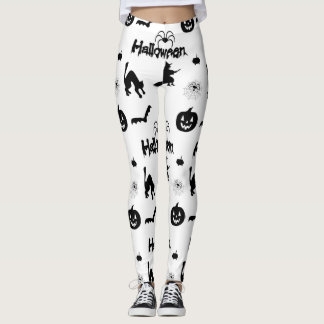 Halloween pumpkin bat witch spider Leggings