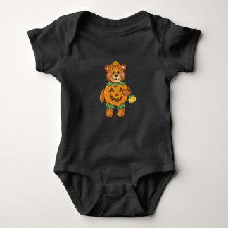 Halloween Pumpkin Bear Baby Bodysuit