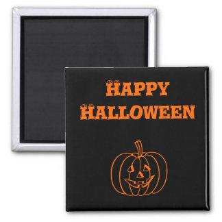 Halloween Pumpkin Black Magnet