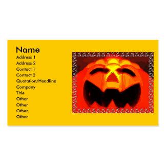 Halloween Pumpkin Business Card