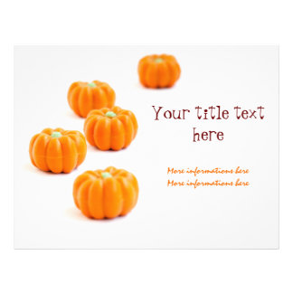 Halloween pumpkin candy flyers