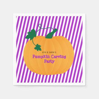 Halloween Pumpkin Carving Party Paper Serviettes