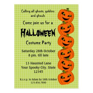 Halloween Pumpkin Costume Party Postcard