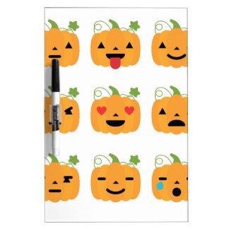 halloween pumpkin emojis dry erase board