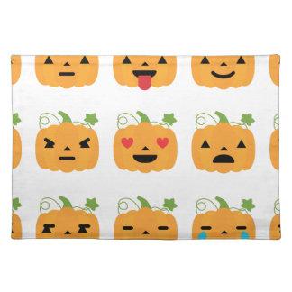 halloween pumpkin emojis placemat