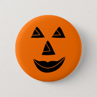 Halloween Pumpkin Face 6 Cm Round Badge