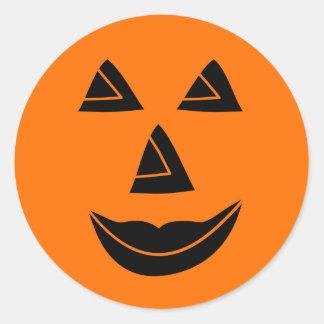 Halloween Pumpkin Face Classic Round Sticker