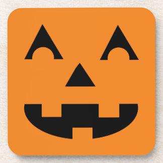Halloween Pumpkin Face Beverage Coaster