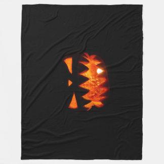 Halloween Pumpkin Fleece Blanket