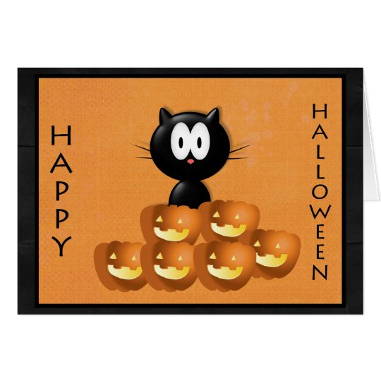 Halloween Pumpkin Greeting Card! Card