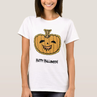 Halloween Pumpkin Happy halloween ladies T-Shirt