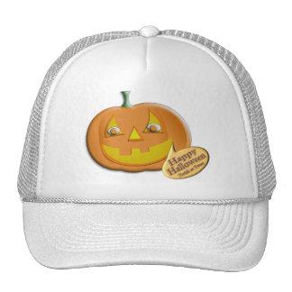 Halloween Pumpkin Mesh Hats