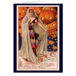 Halloween Pumpkin Heads Card