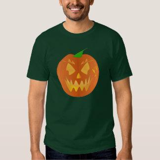 Halloween Pumpkin In Forest Green Shirts