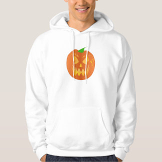 Halloween Pumpkin In White Pullover