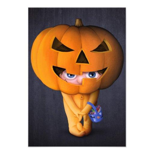 Halloween pumpkin custom announcements