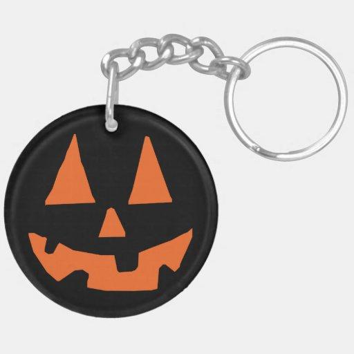 Halloween Pumpkin Jack-o-Lantern Acrylic Key Chain