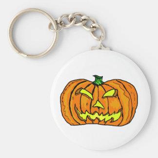Halloween Pumpkin Jack-o -Lantern Key Chain