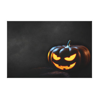 Halloween Pumpkin Jack-O-Lantern Spooky Canvas Print