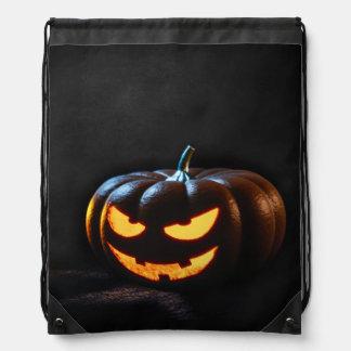 Halloween Pumpkin Jack-O-Lantern Spooky Drawstring Bag