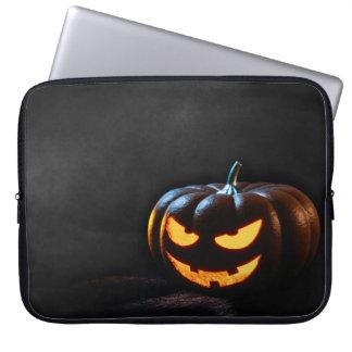 Halloween Pumpkin Jack-O-Lantern Spooky Laptop Sleeve