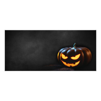 Halloween Pumpkin Jack-O-Lantern Spooky Personalized Rack Card