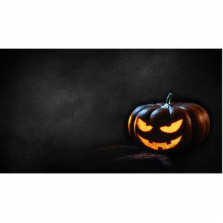 Halloween Pumpkin Jack-O-Lantern Spooky Photo Sculpture Decoration