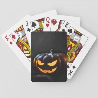 Halloween Pumpkin Jack-O-Lantern Spooky Playing Cards